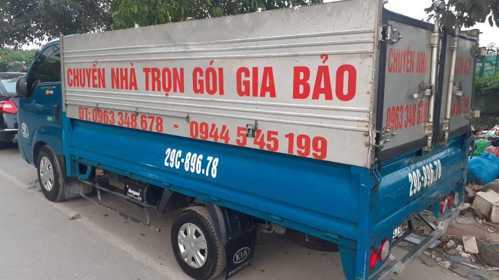 taxi tải Gia Bao cho thuê bán hàng nội thất